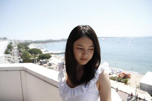 Moon Lai (Fooi Mun) prepping for photo shoot