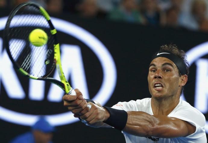 Rafael Nadal na semifinal do Aberto da Austrália contra Grigor Dimitrov (Foto: REUTERS/Thomas Peter)