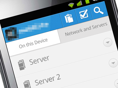 simple server Android mobile file administrator ui