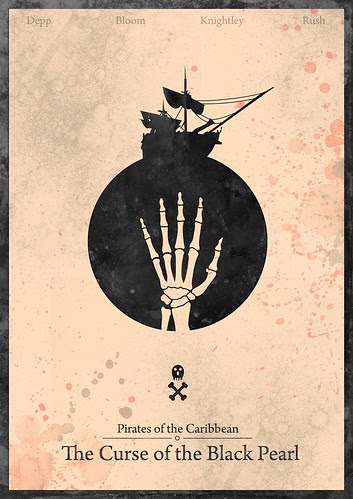 Pirates of the Caribbean : Curse of the Black Pearl - minimalist poster