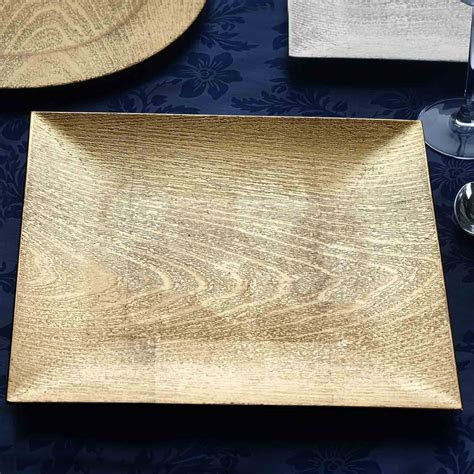 "SQUARE CHARGER PLATES 12"" Wood Design Wedding Party Dinner"