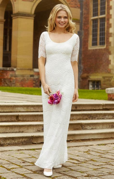Claudia Lace Wedding Gown Bright Ivory   Evening Dresses