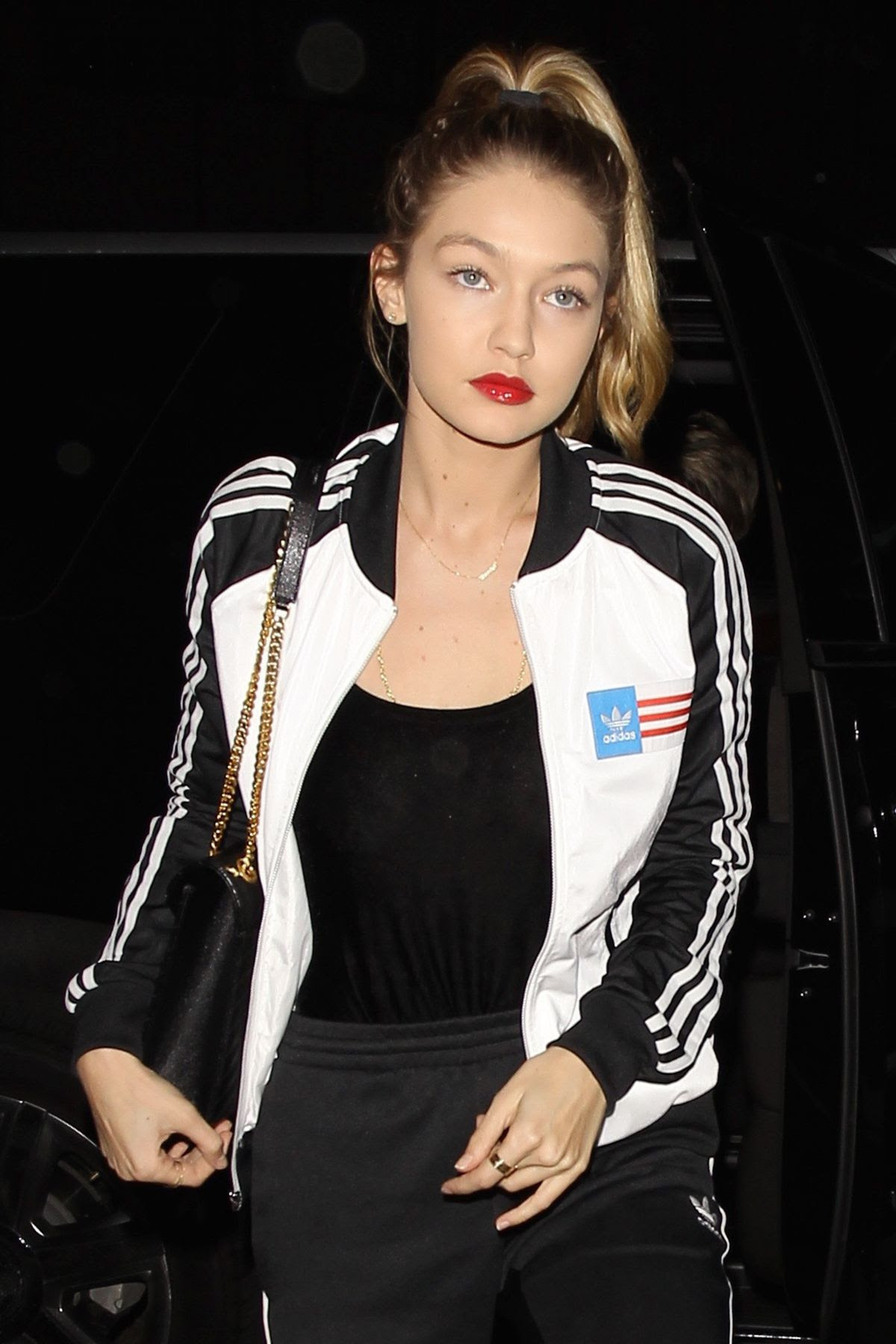 GIGI HADID Arrives at Nice Guy in West Hollywood 02/03/2016