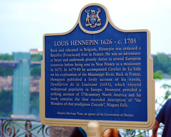 Louis Hennepin Plaque