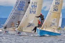 J/24s sailing in Seattle NOOD regatta