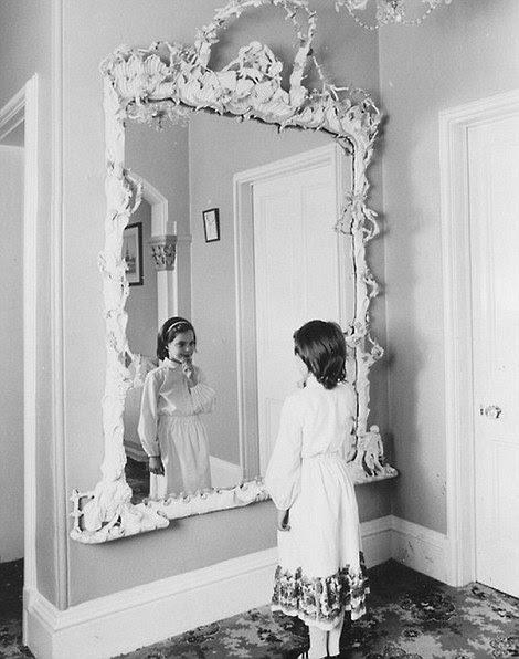 The 'mirror' inside Hetton Lawn, taken in 1981
