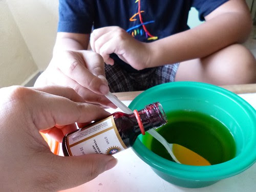 4. Add food colouring