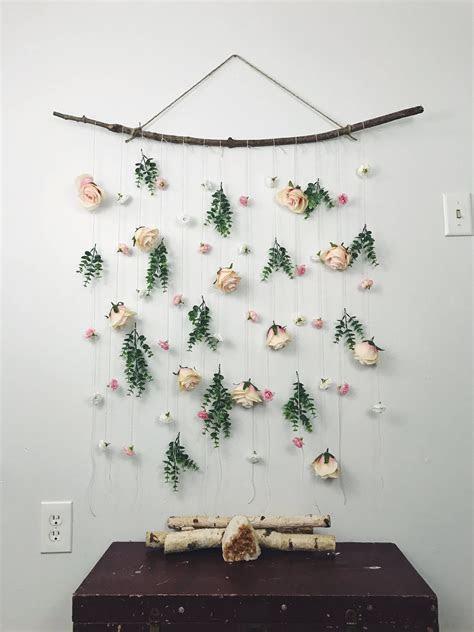 Rose flower wall hanging, hanging flower backdrop, floral