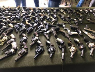 A destruição das armas ocorreu em Feira de Santana - Foto: Divulgação | SSP-BA