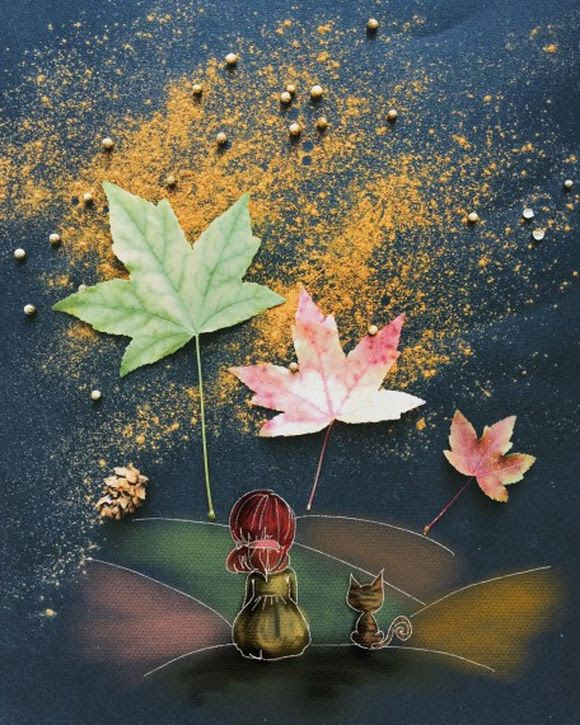 wonderful morning ritual autumn is here illustration