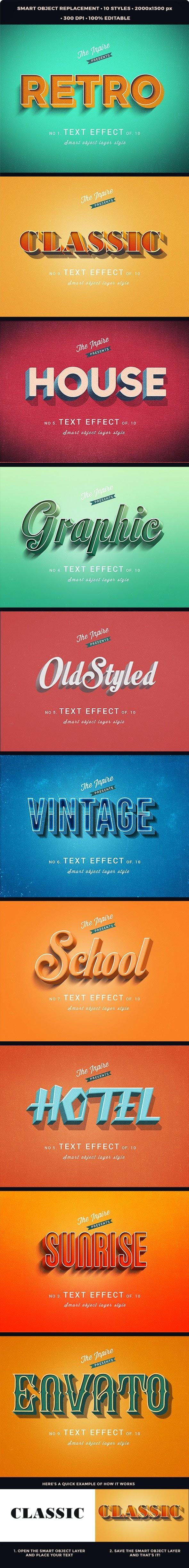 3D Vintage Retro Text Effcets V2 27625402