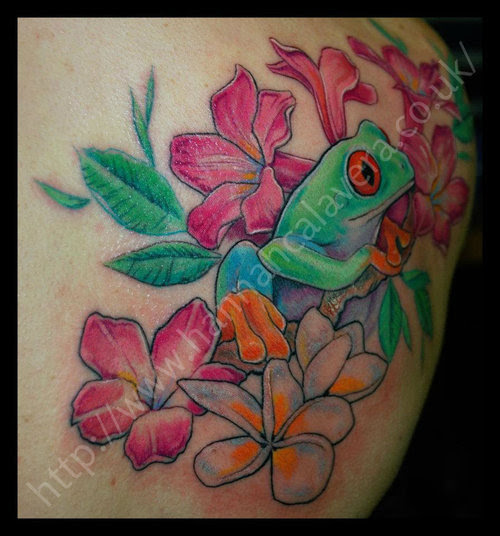 Frog Flower Tattoos Images Pictures Page 2 Tattoos Hunter