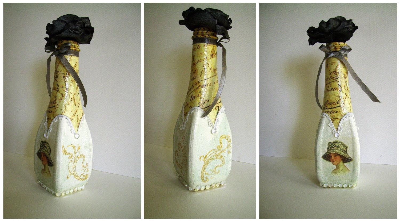 OOAK--Decorative bottle - agnieszkamalik