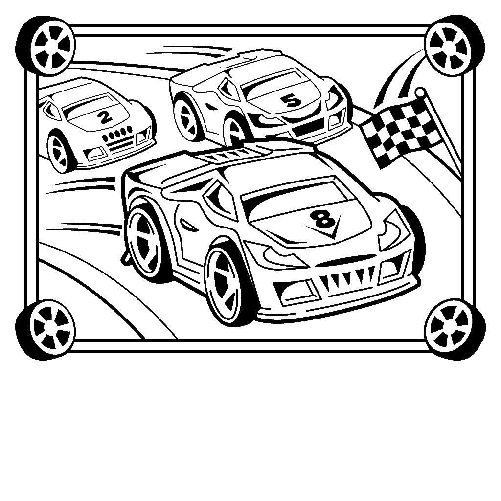 45 Race car coloring pages and crafts cakes for kids ...