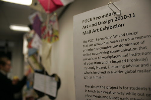 Intro to student mailart show 1