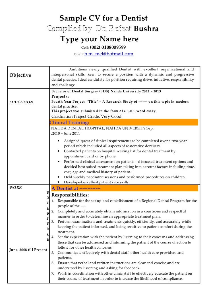 Dentist Resume Sample Doc from lh5.googleusercontent.com