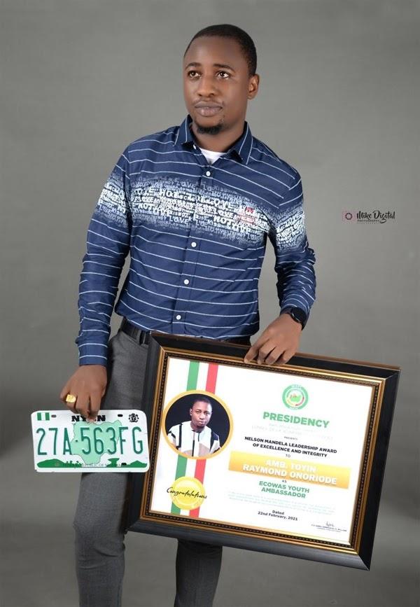 Toyin Raymond Onoriode becomes ECOWAS youth ambassador