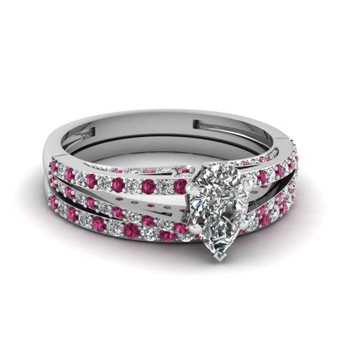 Buy Affordable Pink Sapphire Wedding Ring Sets Online