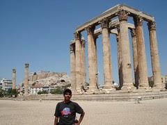 Kuil Olympian Zeus, Athens, Greece