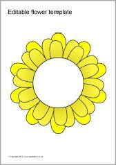 Szerkeszthető színes virágok sablonok (SB7066) - SparkleBox ...