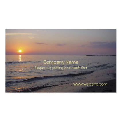 Sunset Beach Waves, Serene and Peaceful Coast Business Cards
