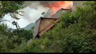 Detik detik Kebakaran di Kp.Cepak Huni Baduy