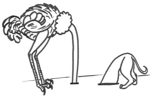 Comic-Whippet-Vogel-Strauß