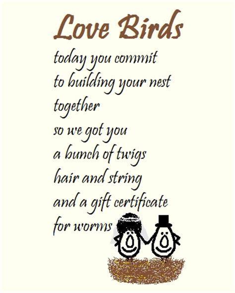 Love Birds   A Wedding Congrats Poem! Free Congratulations