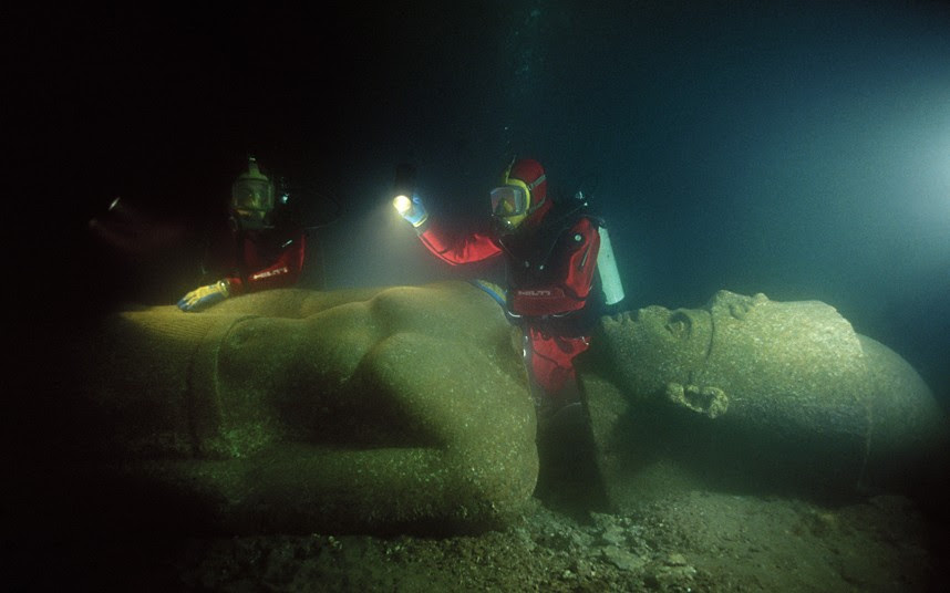 underwater city Heracleion discovered