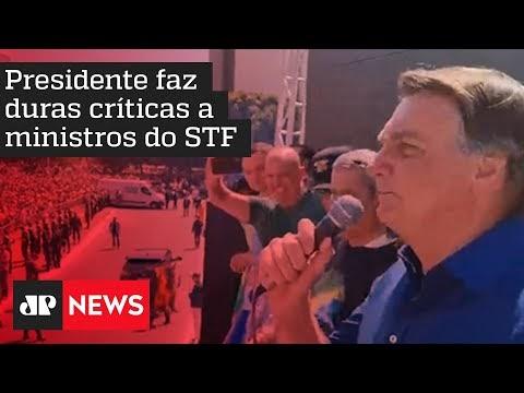 """Bolsonaro chama Moraes de """"canalha"""" e diz que não cumprirá mais decisões do ministro"""