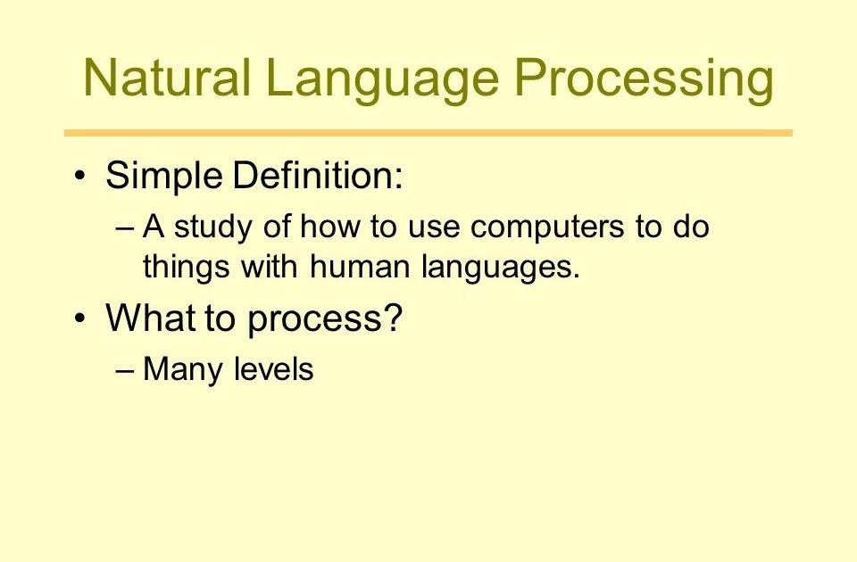 Nlp Simple Definition - NLP Practicioner
