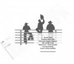 Cowboys at the Rail Silhouettes Yard Art Woodworking Pattern - fee plans from WoodworkersWorkshop® Online Store - cowboys,western,rodeos,bronc riding,yard art,painting wood crafts,scrollsawing patterns,drawings,plywood,plywoodworking plans,woodworkers projects,workshop blueprints