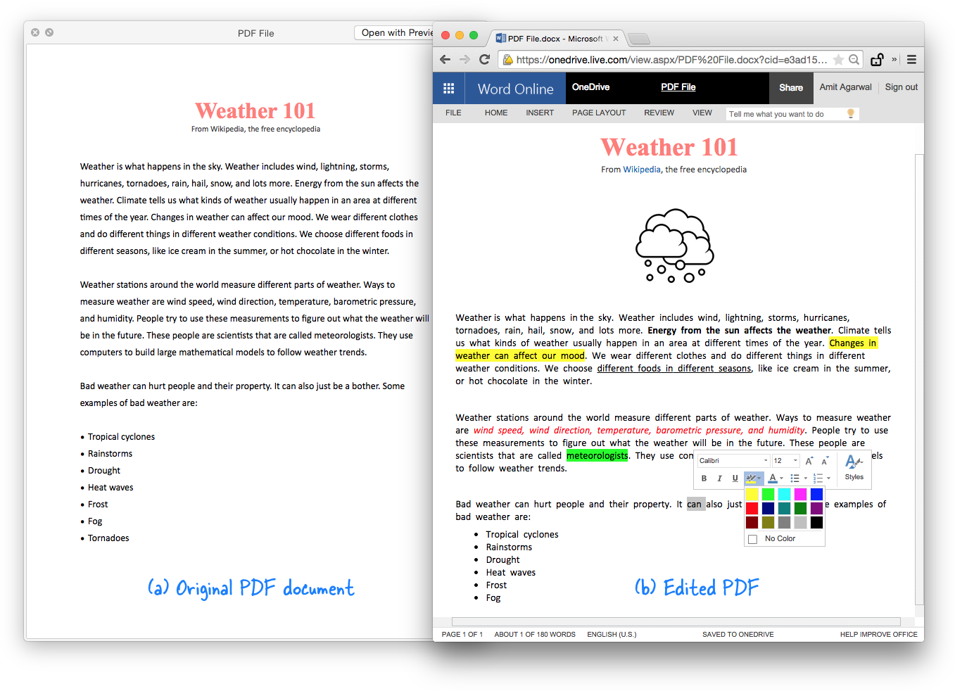 Edit the Text and Images of your PDF file in the Browser