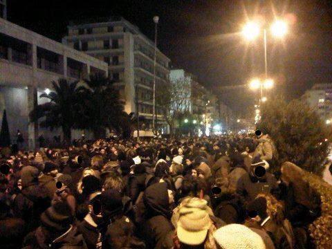 Manifestacion esta tarde en Atenas