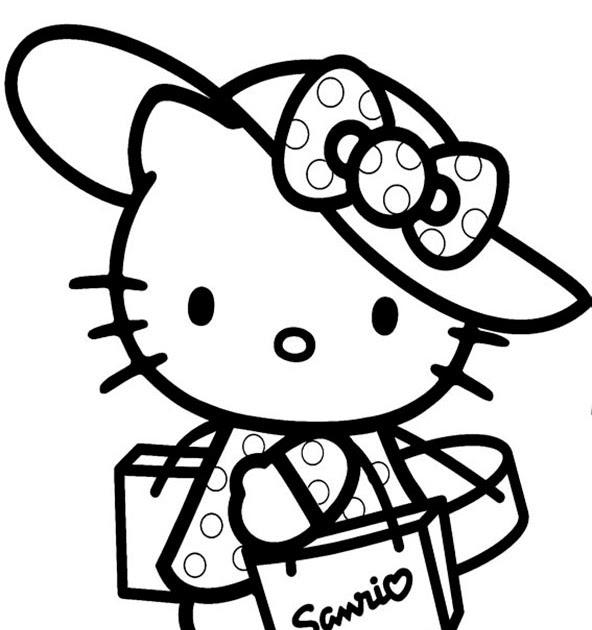 prinzessin hello kitty ausmalbilder  malvorlagen fur