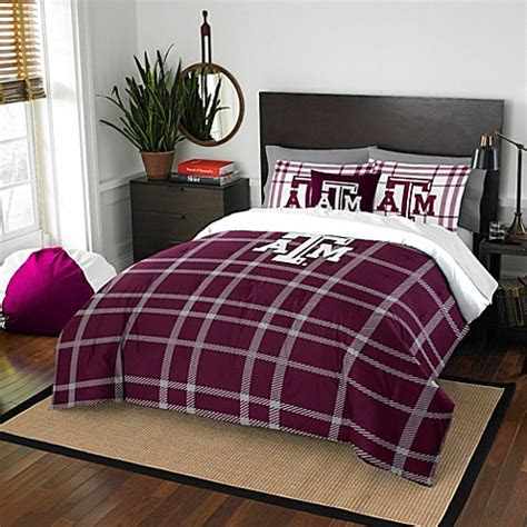 texas  university embroidered comforter set bed bath