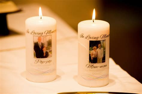 Bobbins of Basil: Wedding Memorial Candles