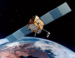 Navstar-2F satellite of the Global Positioning...