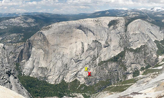 Hikers stranded on the side of Mt. Watkins