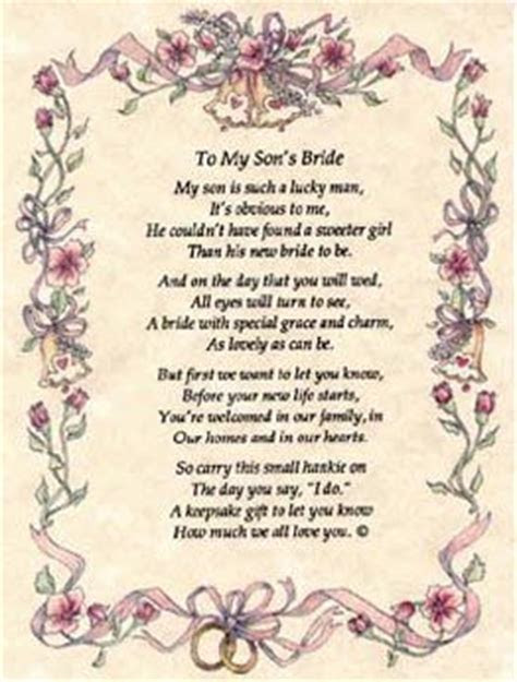 mother to son wedding day poems   to my son s bride my son