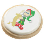 Christmas Elf Round Premium Shortbread Cookie