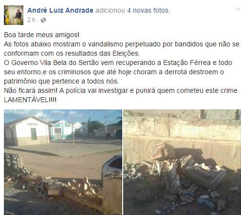 Prefeito de Queimadas usou rede social para acusar e xingar oposição após acidente | Foto: Reprodução/Facebook