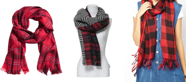 tartan scarf trend check plaid h&m asos zara fall winter 2013 2014 inspiration wish list wanted turn it inside out fashion blogger belgium