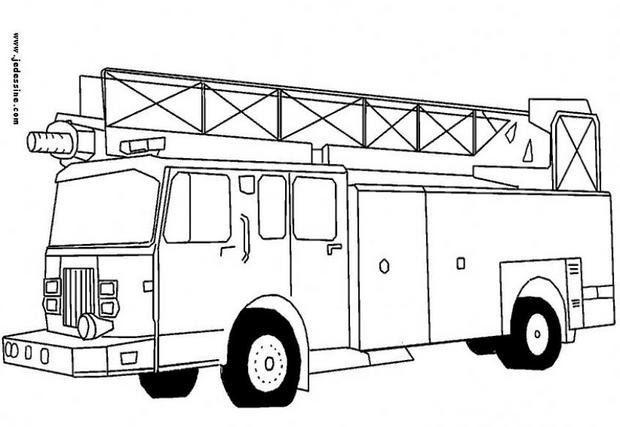 Coloriages Coloriage Dun Camion De Pompiers Frhellokidscom