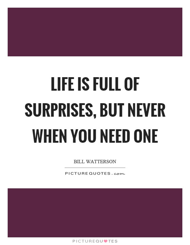 Life Is Full Of Surprises Quotes Sayings Life Is Full Of