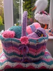 My Basketful of lovely wool.