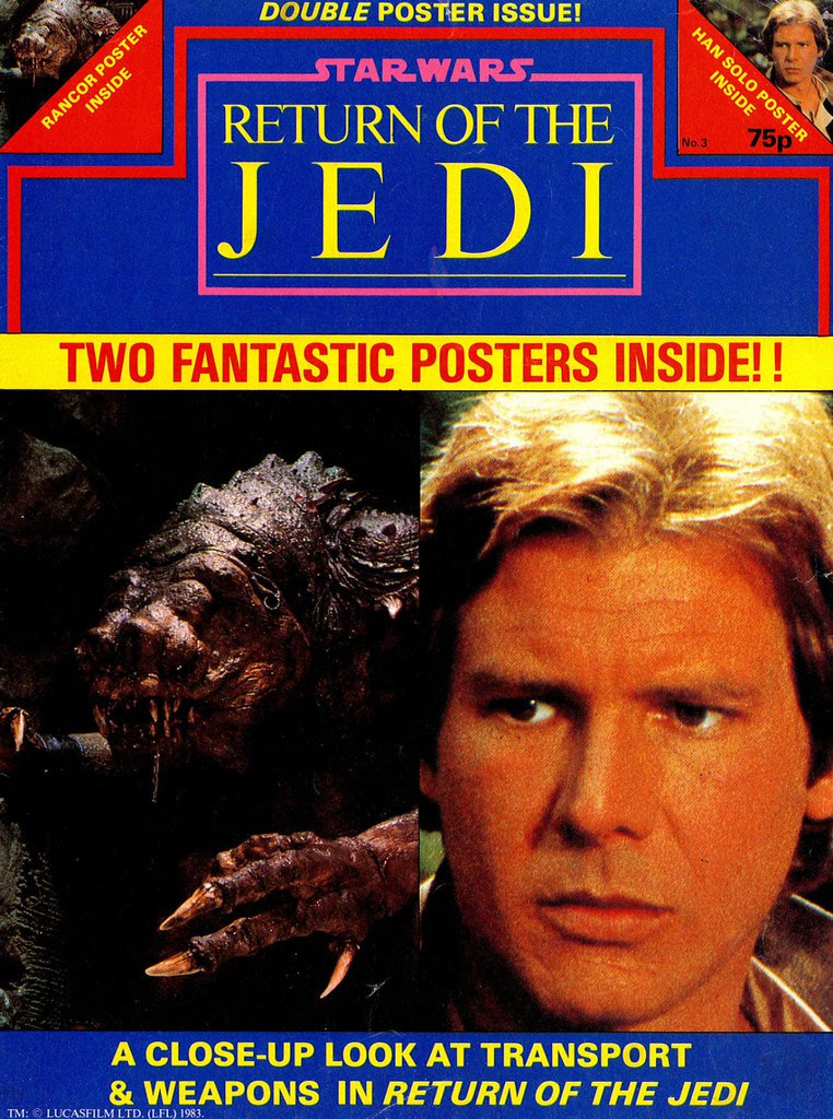 star wars return of the jedi poster magazine 3 rancor han solo