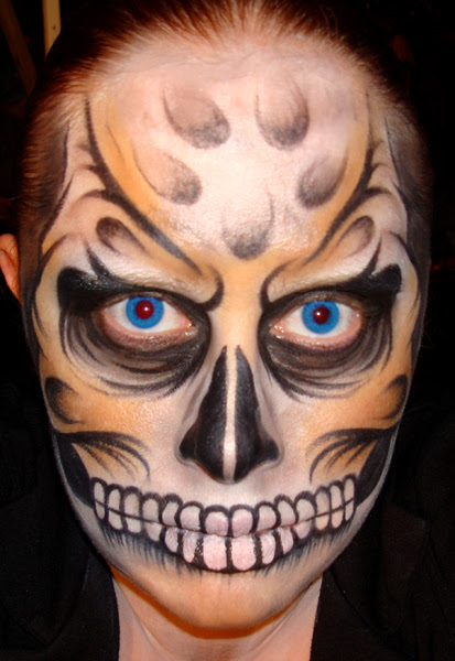 20+ Cool and Scary Halloween Face Painting Ideas - Cool Halloween Face Paint
