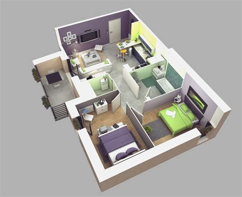 bedroom house plans       apartment