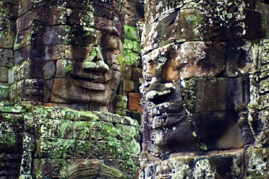 Esculturas no templo Angkor Wat em Siem Reap no Cambodia. Foto: UNESCO